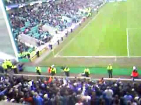 Rangers fans sing Scott Brown