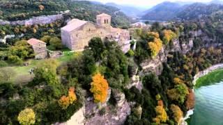 Monestir de Sant Pere de Casserres (a vol d'ocell)