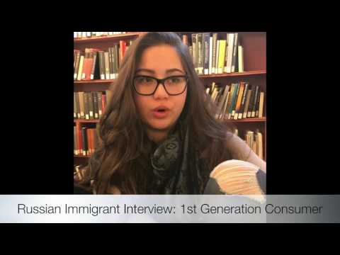 Multicultural Video Interview: First Generation Ethnic Consumer (Russian American)