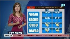 PTV INFO WEATHER: Mindanao to experience better weather