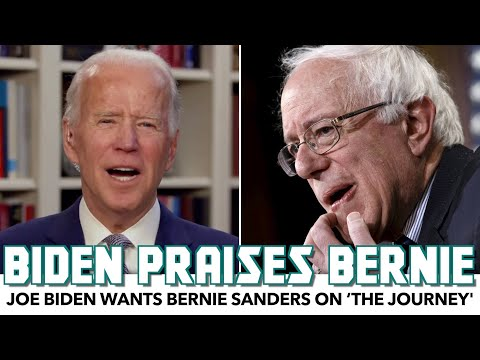 Biden Praises Bernie, Wants Him On 'The Journey'
