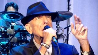 Leonard Cohen (and a monkey) - First We Take Manhattan (live) - Ziggo Dome, Amsterdam - 20-09-2013