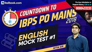 IBPS PO Mains 2018 | English Expected Paper - Mock Test 1 for IBPS PO | Solve with Nitin Sir