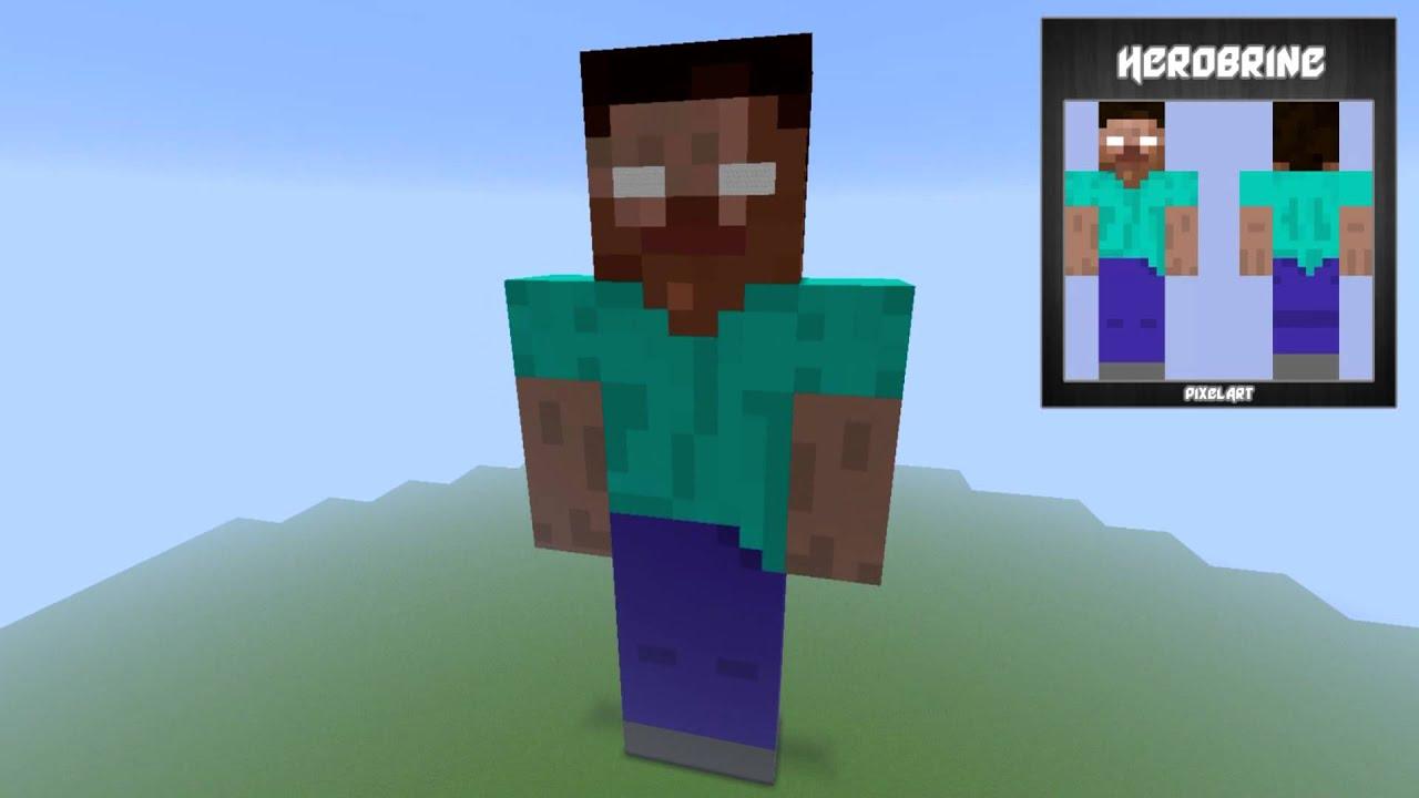 como fazer o pixel art do herobrine