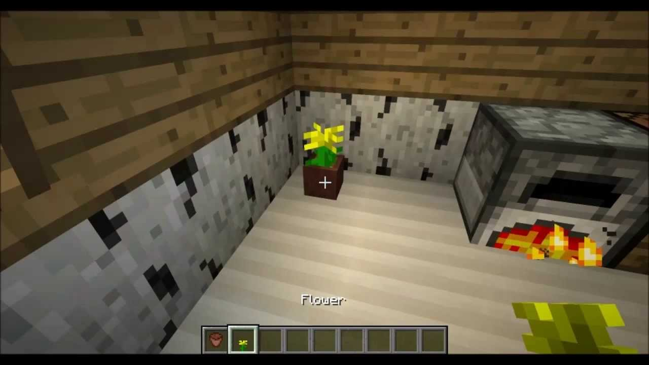 How To Make Flower Pot |Minecraft Tutorial - YouTube