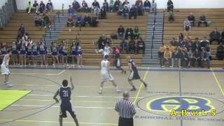 Acton Boxborough Varsity Boys Basketball vs Lincoln Sudbury 1/13/14