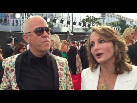 Ryan Murphy and Nina Jacobson ('The People v. O.J. Simpson') on 2016 Creative Arts Emmys red carpet