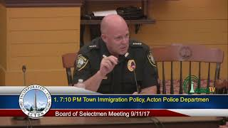 Board of Selectmen 9 11 2017