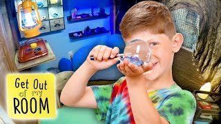 Boy Builds SECRET CAVE Inside Bedroom For Brother | Get Out Of My Room | Universal Kids