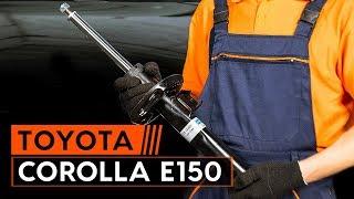 Jak wymienić amortyzatory przednie TOYOTA СOROLLA E150 Sedan [TUTORIAL AUTODOC]