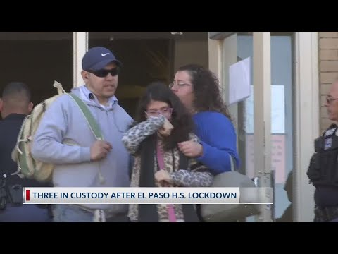 El Paso High School Students react following lock down