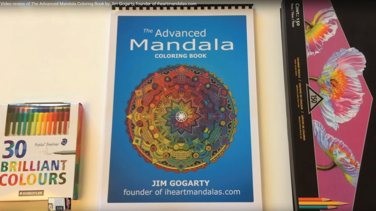 The mandala coloring book jim gogarty - Video Review Of The Advanced Mandala Coloring Book By Jim Gogarty Founder Of Iheartmandalas Com