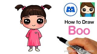 How to Draw Boo Easy | Monsters Inc.