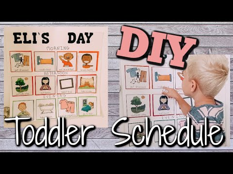 DIY TODDLER ROUTINE BOARD |  EASY VISUAL TODDLER SCHEDULE 2019