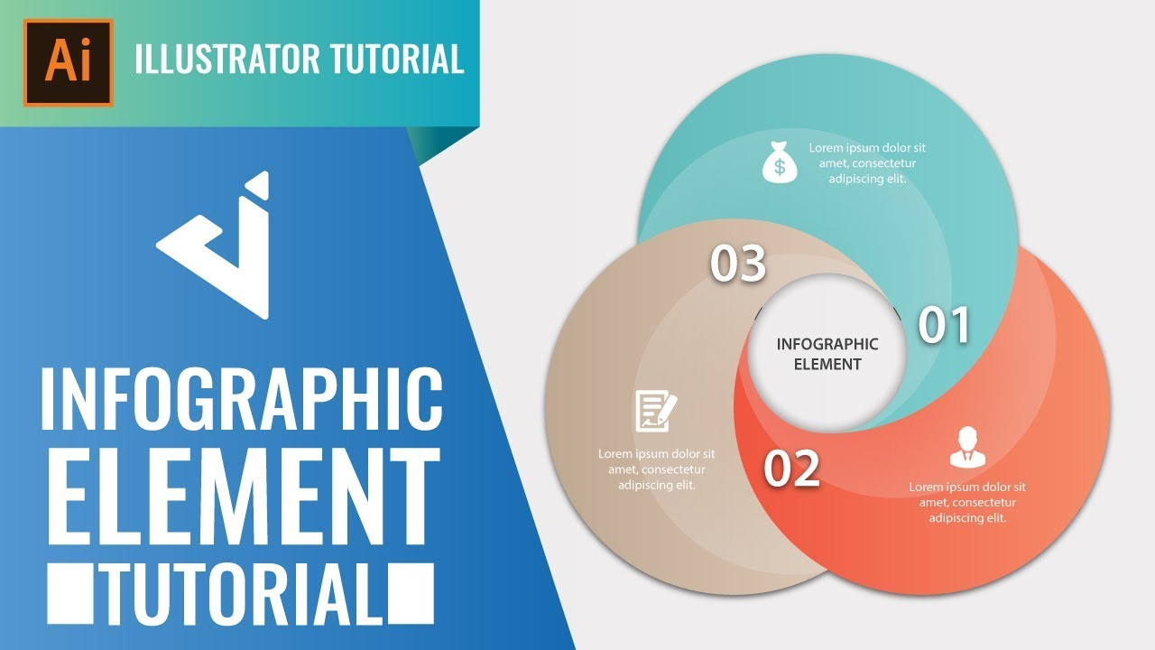Infographic tutorial illustrator basiconine
