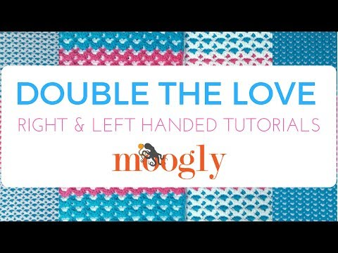How to Crochet: Double the Love Baby Blanket (Left Handed)