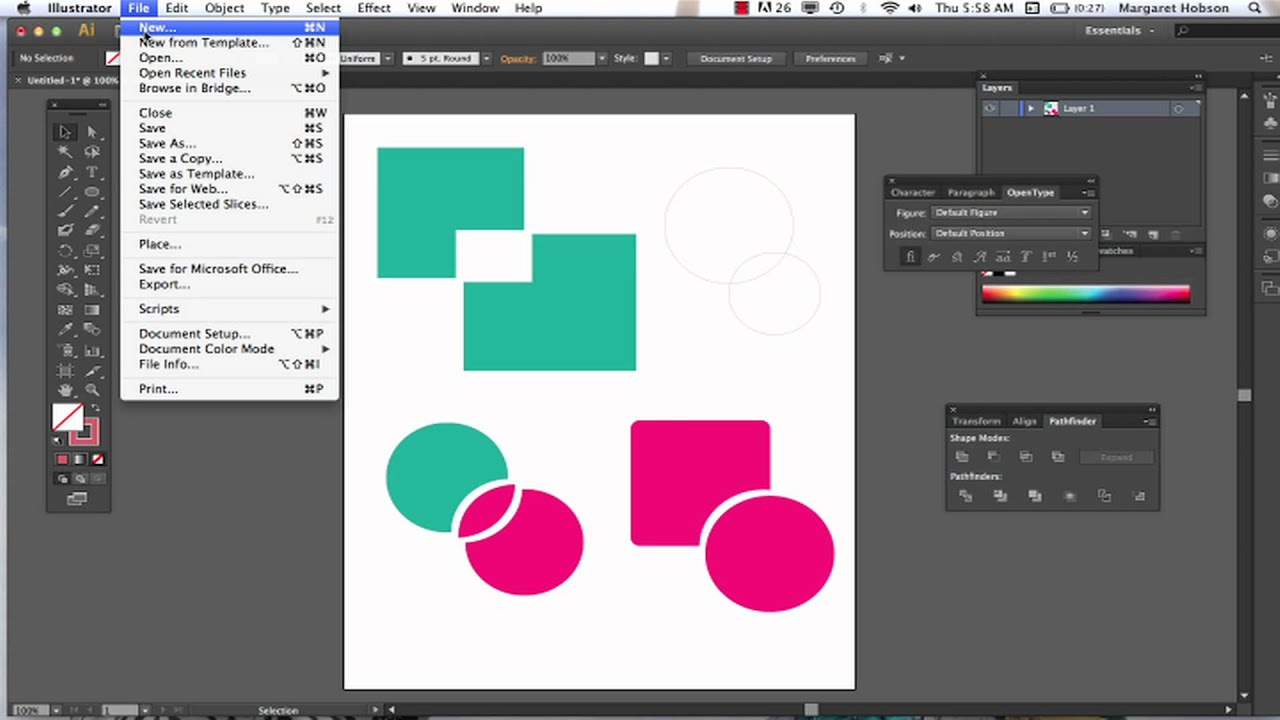 The shape builder and pathfinder in illustrator cs6 youtube for Find a builder com