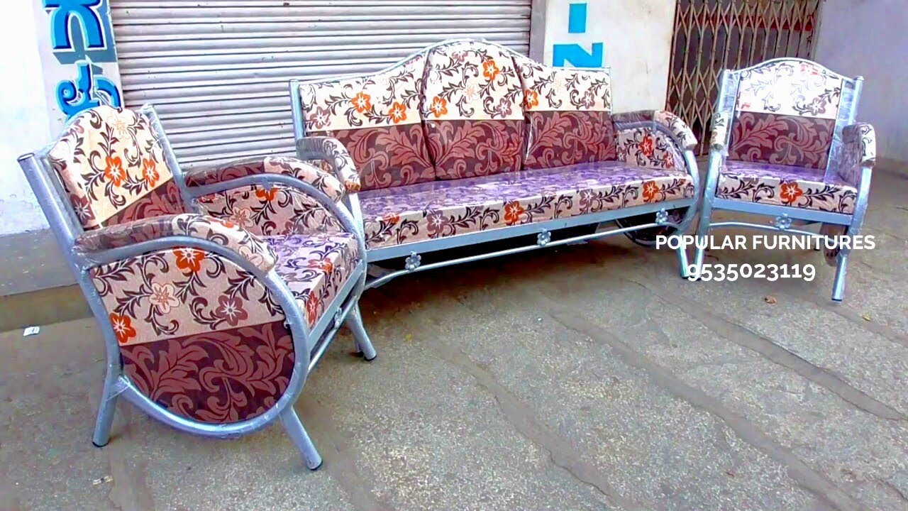 Iron Sofa Set Metal Sofa Set Steel Sofa Set Steel Coted Sofas In Popular Furnitures Y P R Youtube
