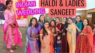 Indian Wedding HALDI LADIES SANGEET Vlog   SuperPrincessjo