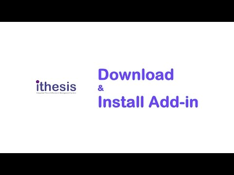 [iThesis] Download & Install Add-in