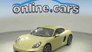 A99532GT Used 2014 Porsche Cayman Coupe Gold Test Drive, Review, For Sale