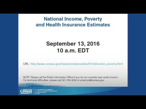 Income, Poverty and Health Insurance Coverage in the United States: 2015 (Live webcast)