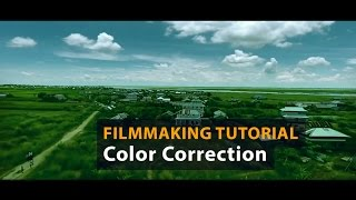 Drone Footage Color Correcting Technique in After Effect   Establish Shot   Filmmaking Tutorial