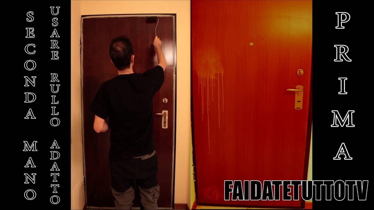 Dipingere Le Porte Di Casa come verniciare porta blindata o di legno macchiata o rovinata