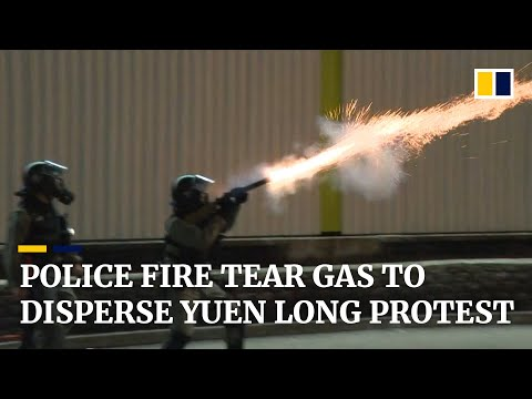 Hong Kong protest marking 3 months since Yuen Long attack descends into chaos