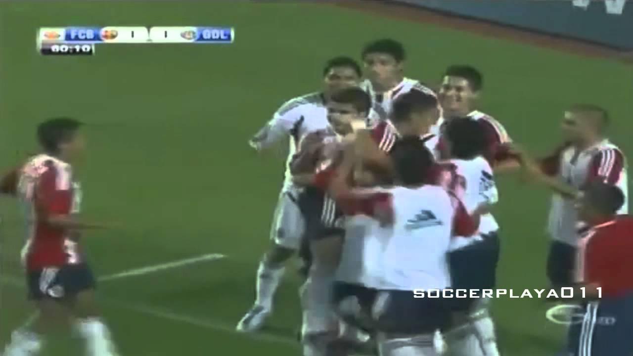 Chivas vs Barcelona 4-1 Todos Los Goles 8/4/2011