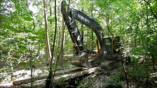 Excavator Building  A Bridge