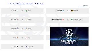 Футбол Лига Чемпионов 2017-2018. 3 раунд. Результаты и расписание