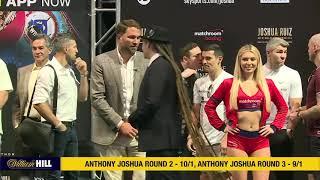 LIVE! - ANTHONY JOSHUA v ANDY RUIZ JR - *FULL WEIGH IN & UNDERCARD FROM NEW YORK* / JOSHUA v RUIZ