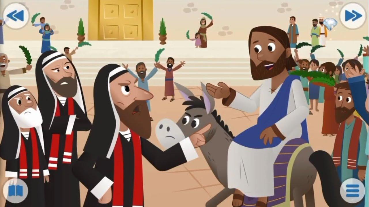 Biblia para Niños - Jesús y el Burrito - Mateo 21