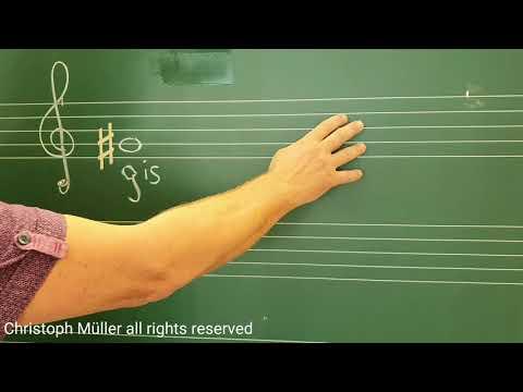 Das Kreuz  # Versetzungszeichen Vorzeichen -  Hashtag? Musikunterricht Mit Herrn Müller Lektion 005