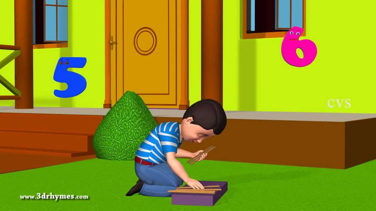 One Two Buckle My Shoe 3D Animation English Nursery