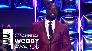 Mike Colter Introduces the Actress of the Year Award at the 20th Annual Webby Awards.