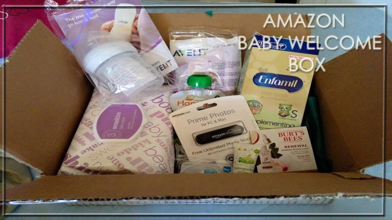 unboxing amazon baby registry welcome box youtube