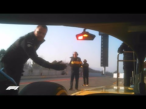 Visor Cam! Onboard with Hulkenberg in the 2018 Renault