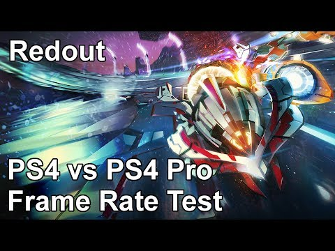 Redout PS4 vs PS4 Pro Frame Rate Test