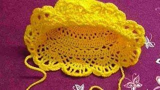 Панама детская крючком.Beanie baby crochet