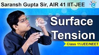 Surface Tension in Fluid Mechanics in Hindi for Class 11, JEE & NEET