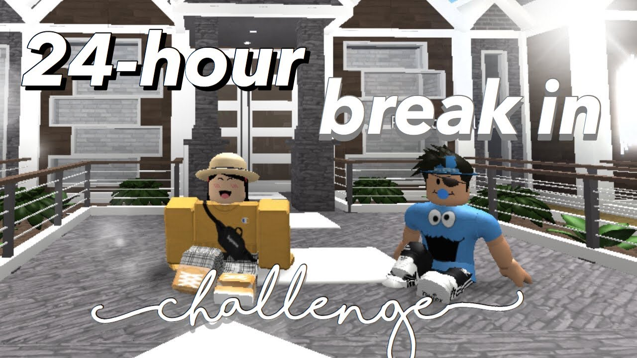 I Spent 24 Hours In Someones House Roblox Bloxburg Youtube - 24 Hour Break In House Challenge Bloxburg Roblox Youtube