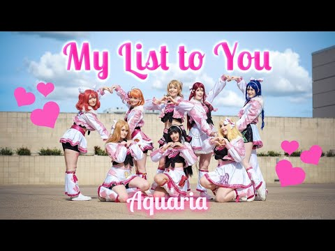 My List To You! Dance Cover | Aquaria LIVE! 【Madman Anime Festival Brisbane 2019】