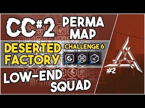 【明日方舟/Arknights】[CC#2 Perma Map - Deserted Factory Challenge 6] - Low End Squad - Arknights Strategy