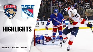 Extended highlights of the Florida Panthers at the New York Rangers.