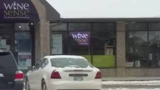 Wine Sense p10mm window sign 2 ft x 3 fr
