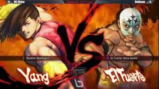 Next Level Battle Circuit 145 - USF4 - Losers Final - OG Shine (Yang) vs Duffman (Fuerte; Vega)