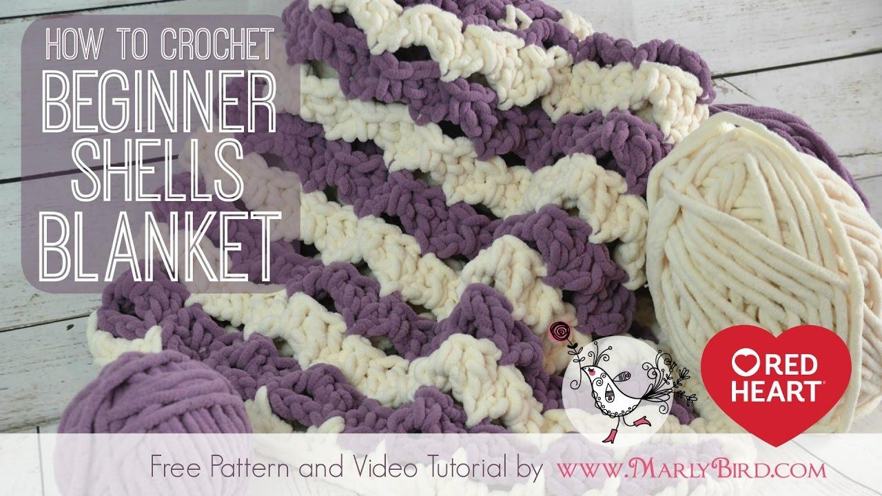 Crochet Beginner Shells Baby Blanket Afghan Youtube