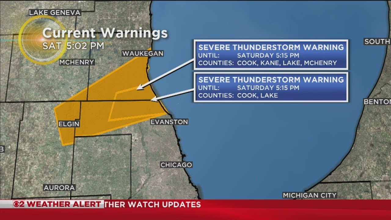 Storm Watch: Severe Thunderstorm Warning In Effect